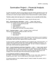 Summative Project V3 - Project Outline and Marking Scheme