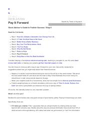 8-Pay It Forward - Motley Fool Stock Advisor