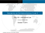 POL 122 (Lecture 1) - Sources of Law 1