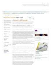 Yahoo Health care Financing  - Paying Providers