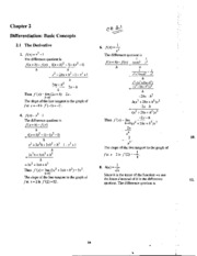Math 125 -Solutions for Chapter 2.1 to 2.4 (Even problems)