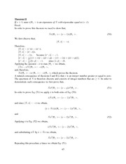 Theorems and Excercises