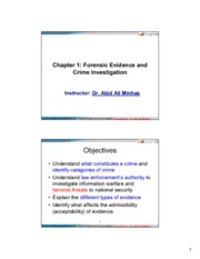CIS 483  FIR -Ch01-Forensic Evidence and Crime Investigation-For students