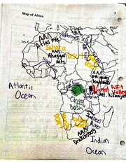 map of Africa notes