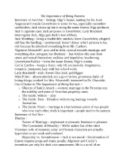 importance being earnest term paper