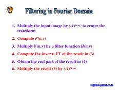 filtering in fourier domain