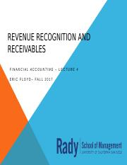 Week 4 Revenue Recognition and Receivables.pptx