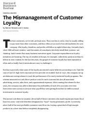 The Mismanagement of Customer Loyalty.pdf