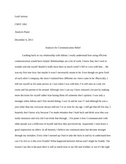 Analysis Paper for This I Believe essay