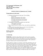 Epidemiology and Biostatistics Lecture Notes  7