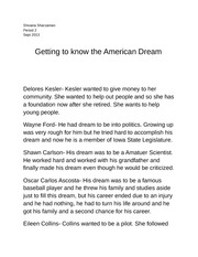 Essay on the american dream