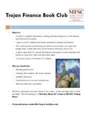 Trojan Finance Book Club Final