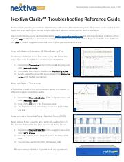 Nextiva-Clarity-Troubleshooting-Reference-v1.0.pdf