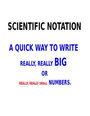 scientific notation ppt