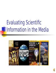 Bio 104_Module 2_Evaluating_Science_in_the_Media.ppt