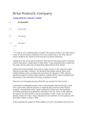 Brita Products Company.docx