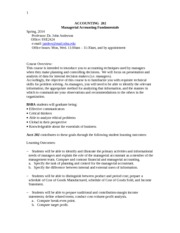 accounting 202 syllabus Syllabus is subject to change at instructor's discretion with advance notice to students - 1 - university of hawai'i – west o'ahu acc 201 .