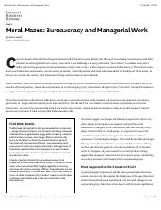 Moral Mazes: Bureaucracy and Managerial Work.pdf