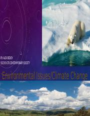 Environmental issues : Climate Change.pptx
