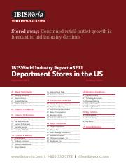45211 Department Stores in the US Industry Report