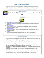 Curriculum Resource Page- Hurricanes!