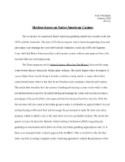 Hist 3260 modern native issues essay