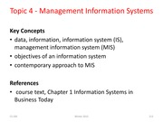 CS 330 Topic 04 Info Systems