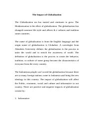 The Impact of Globalization.docx