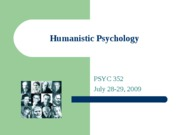 Humanistic Psychology POST