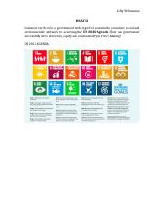 ESSAY III Govt Role in SD - Investments SDG 7,11