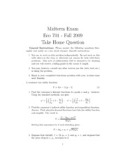 Exam 1 -  Take Home Component - Answers