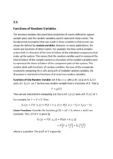 2.6. Functions of Random Variables