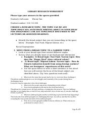Assignment 2_Library Research Worksheet