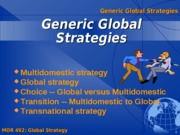 Generic Global Business Strategies