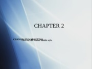 Chapter 2 - Changes in Marketing