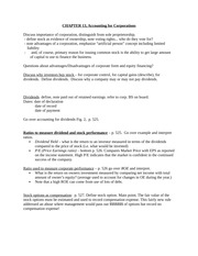 CHAPTER 13 Accounting for Corporations - Notes