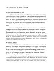 Humanities C100 Task 1 Kubla Khan Revised.docx