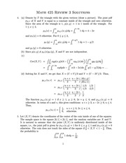 Final Exam Review Solution on Introduction to Probability