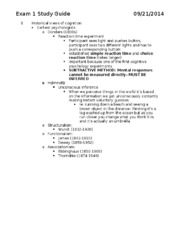 PSY 322 Exam 1 Study Guide