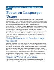 1.1.2 - Instruction - Focus on Language - Usage.docx