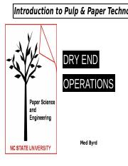 Dry End Operations 2015