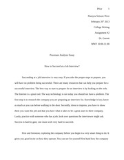 Proccessed Analysis Essay