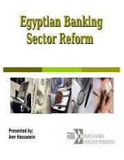 Egypt Financial Sector Reform - Final Version EBCC 23 Feb 2010