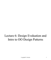 Lecture 6 Design Evaluation and Basic Patterns