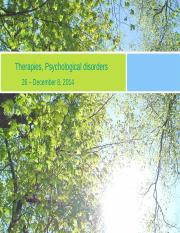 Lecture 26 - 101 - Therapies, Psychological disordersR.pptx