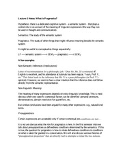 Lecture 1 Notes What is Pragmatics