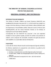 Ministry-for-Gender-Children-and-Social-Protection-Ministerial-statement.docx