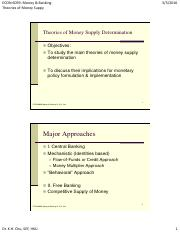 Theories of Money Supply