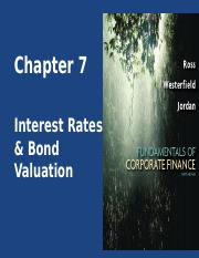 CHAPTER_7-_INTEREST_RATES_AND_BOND_VALUA