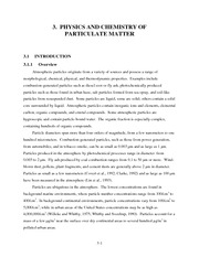Physics and chemistry of particulate matter